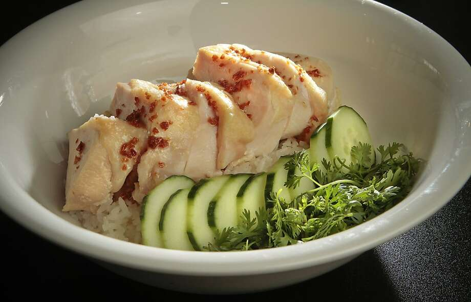 "The ""Kao Mun Gai"" chicken at Hawker Fare is moist and tender from Sous Vide. Photo: John Storey, Special To The Chronicle"