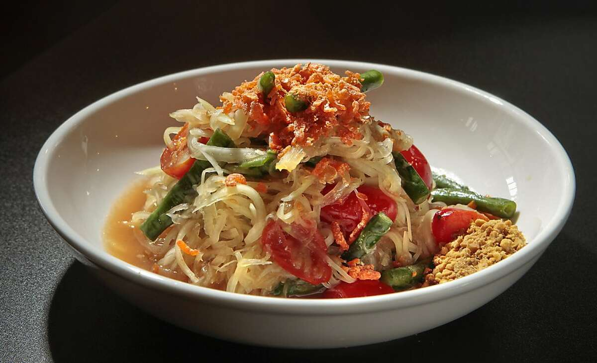 The Green Papaya Salad at Hawker Fare is done in the Laotian style and not as sweet as its Thai counterpart.
