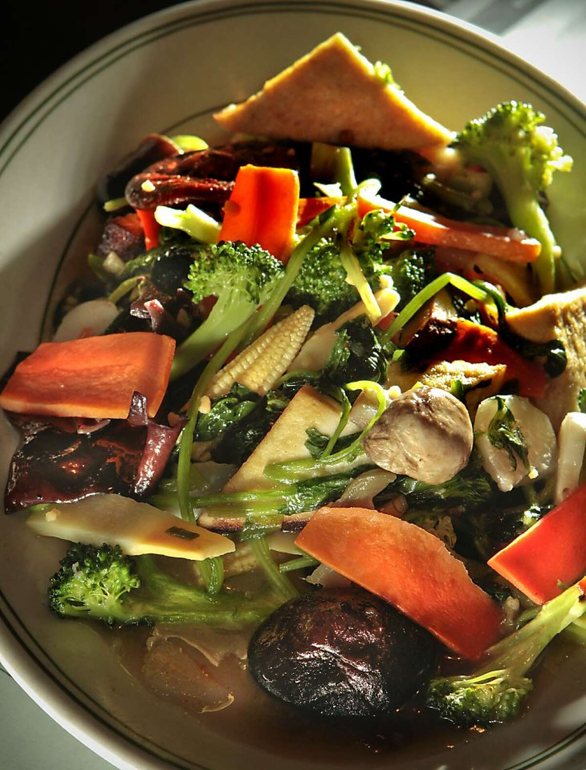 Shangri-La Special Combination Vegetables at Shangri-La Vegetarian Restaurant in San Francisco, Calif., is seen on July 8th, 2011.