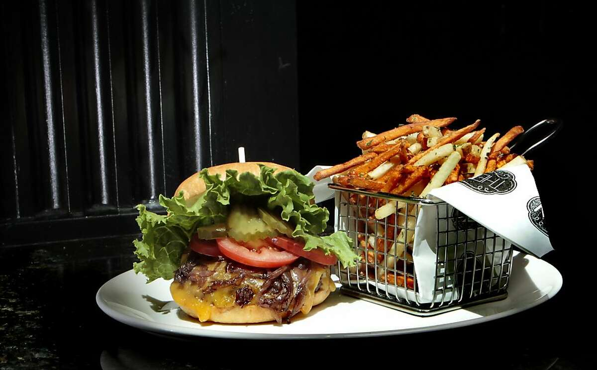 The Cheese Burger at Brixton Restaurant In San Francisco, Calif., is seen on July 2nd, 2011.