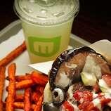 The #1 Maoz sandwich combo at  Maoz Vegetarian restaurant in Berkeley, Calif., is seen on June 15th,  2011.