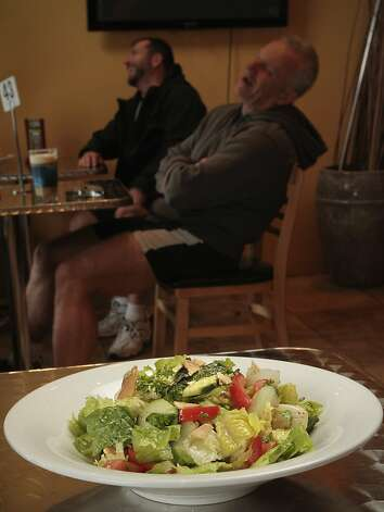 The Fattoush Salad at the Due Drop In Restaurant in San Francisco, Calif. is seen on June 4th, 2011. Photo: John Storey, Special To The Chronicle