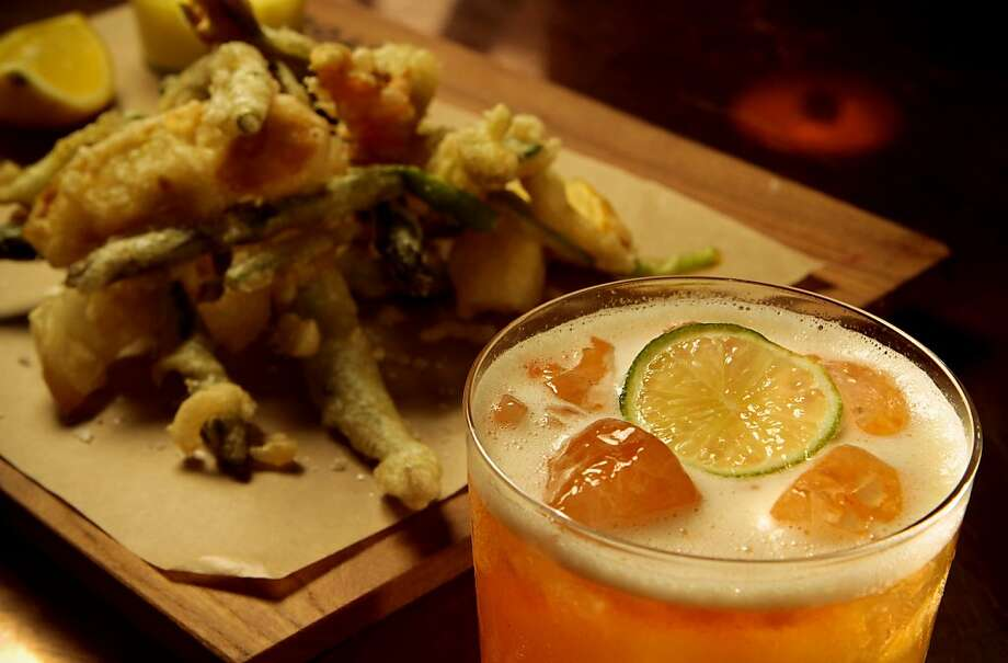 "The ""Fritto Misto"" with the Rum and Cocchi cocktail at Cotogna Restaurant in San Francisco, Calif., is seen on June 9th, 2011. Photo: John Storey, Special To The Chronicle"