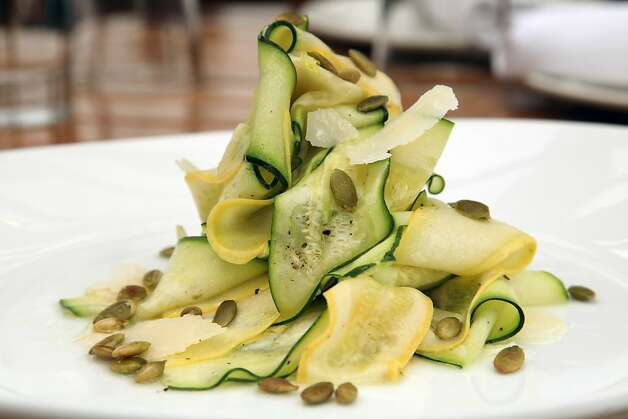 The Zucchini salad comes sprinkled with toasted pumpkin seeds and lemon at Bar Bocce. Photo: Alex Washburn, SFC