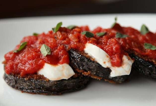 The Eggplant Parmesan is a house favorite of many staff members at Bar Bocce. Photo: Alex Washburn, Special To The Chronicle