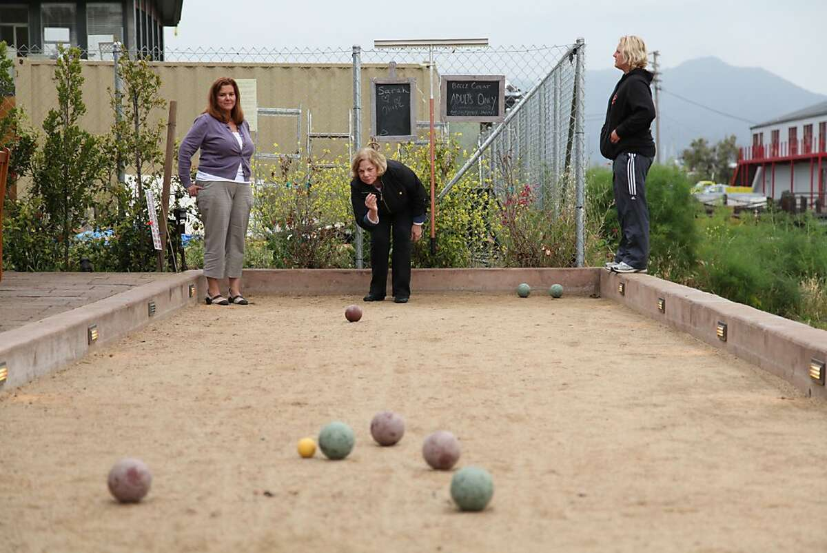 2. Head over the bridge or take the ferry to Sausalito and hit up Bar Bocce. Play bocce ball and enjoy the beautiful waterfront setting over a glass of wine.