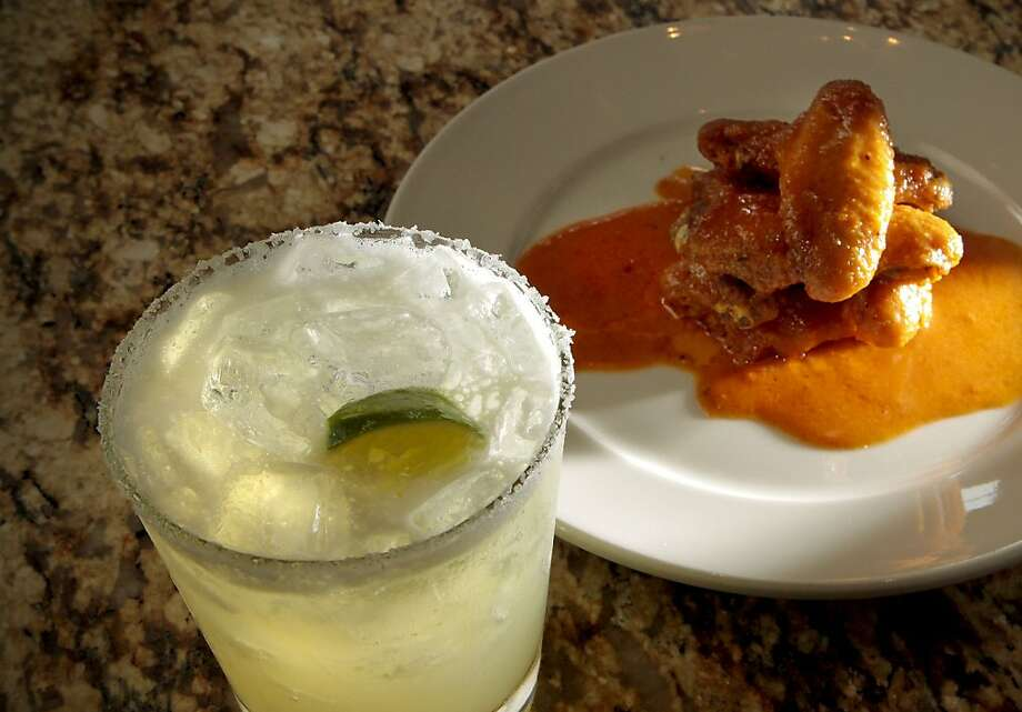 The Farmstead Margarita with the spicy Chicken Wings at the Farmstead restaurant in St. Helena, Calif., is seen on Saturday, May 28th, 2011. Photo: John Storey, Special To The Chronicle
