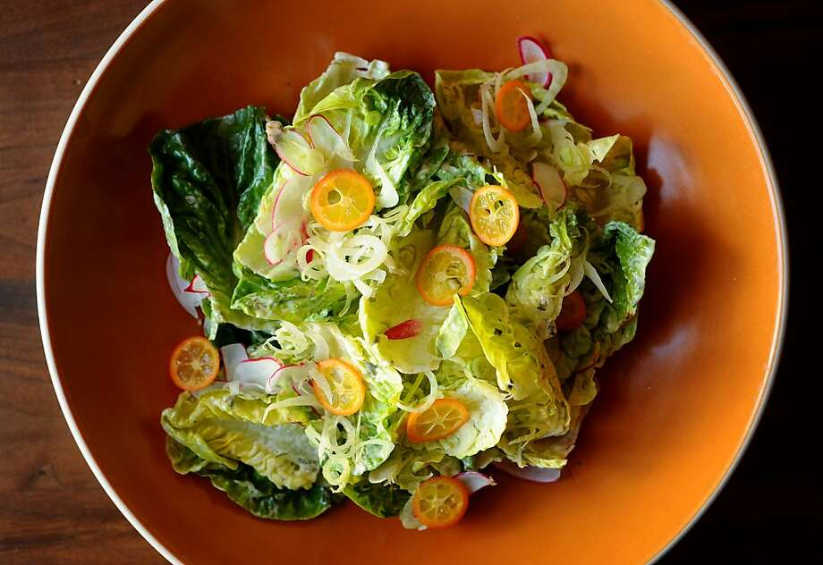 Ragazza's Little Gem Lettuces with fennel, kumquats, radish and green goddess dressing is pictured on Tuesday, May 10, 2011, in San Francisco. Photo: Noah Berger, Special To The Chronicle