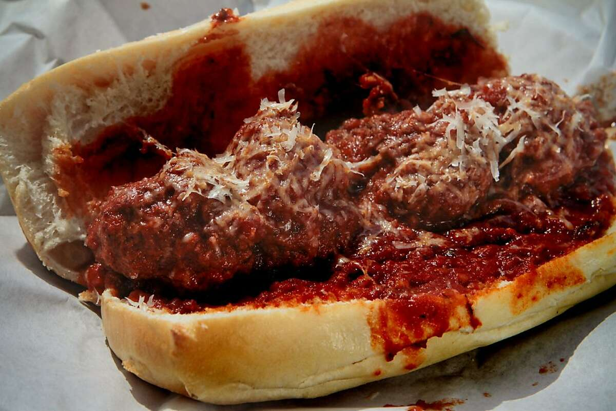 The Spicy Meatball sandwich at Jersey's Restaurant in San Francisco, Calif. is seen on Thursday, April 28th, 2011.