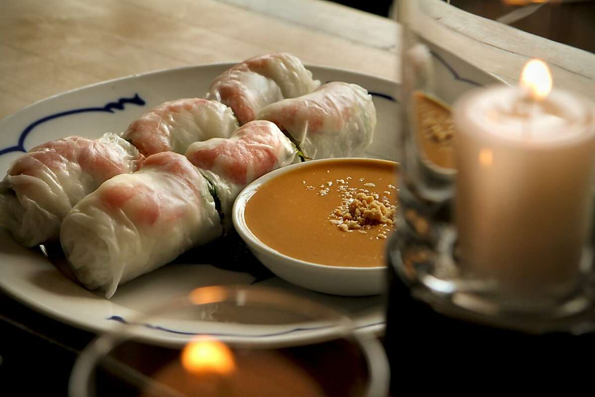 The Spring Rolls at Out the Door Restaurant in San Francisco, Calif. is seen on Friday, April 22nd, 2011.