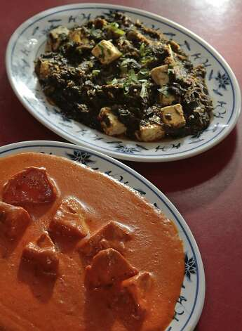Chicken Tikka Masala with Spinach with Homemade Cheese at the House of Curries restaurant in Albany, Calif. is seen on Saturday, April 9th, 2011. Photo: John Storey, Special To The Chronicle