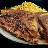 """""""Shay's Cheese Melt"""" on Russian Rye at Jodie's restaurant  in Albany."""