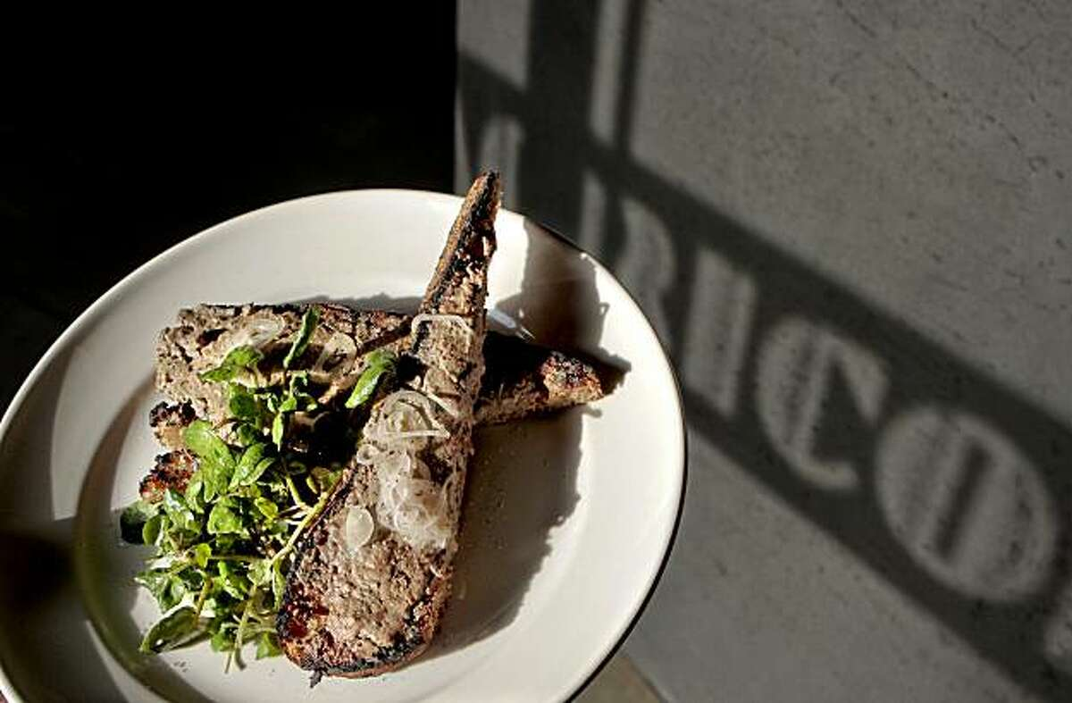 The chopped Liver on Toast at Bar Agricole in San Francisco, Calif. is seen on Saturday, March 12th 2011.