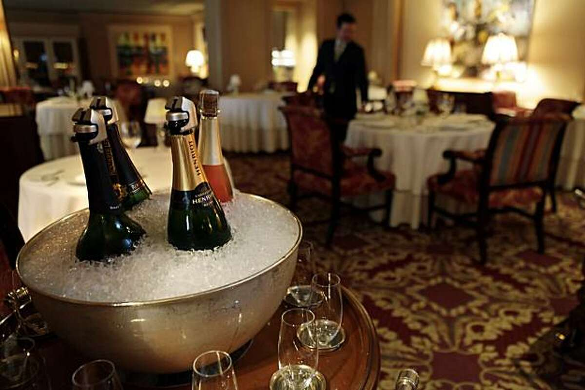 The dining room of the Ritz Carlton Restaurant in San Francisco, Calif, on Wednesday, March 9, 2011.