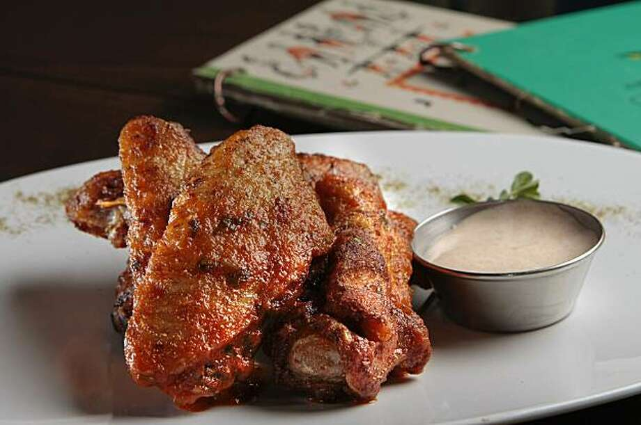 "The ""Fireball""  Cinnamon Siracha  Wings at Straw restaurant in San Francisco, Calif.,  is seen on Friday February 25th,  2011. Photo: John Storey, Special To The Chronicle"