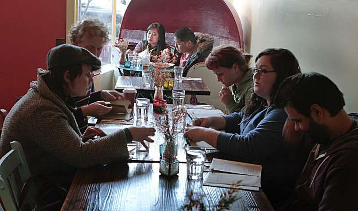 Diners enjoy dinner at Straw restaurant in San Francisco, Calif., on Friday February 25th, 2011.