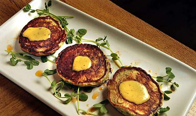 The Leek Fritters at 123 Bolinas restaurant in Fairfax, Calif., is seen on Thursday, March 3rd,  2011. Photo: John Storey, Special To The Chronicle