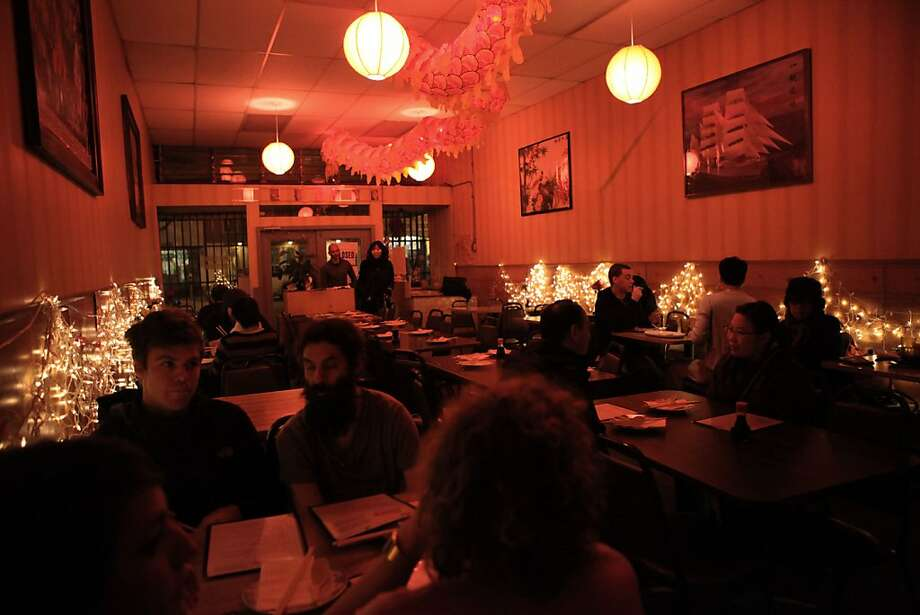 Chinese Mission Food restaurant beginning to open for dinner in San Francisco, Calif., on Friday, February 25, 2011.   Ran on: 03-06-2011 Mission Chinese Food isn't tops in ambience, but its food is both distinctive and inexpensive. Photo: Liz Hafalia, The Chronicle