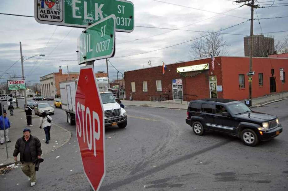A fatal hit and run occurred at the intersection of Quail Street and  Elk Street early Saturday morning, seen here on Monday Nov. 28, 2011 in Albany, NY. A 19 year old suspect turned himself in to authorities on Monday. The victim was a 29 year old College of Saint Rose student. (Philip Kamrass / Times Union ) Photo: Philip Kamrass