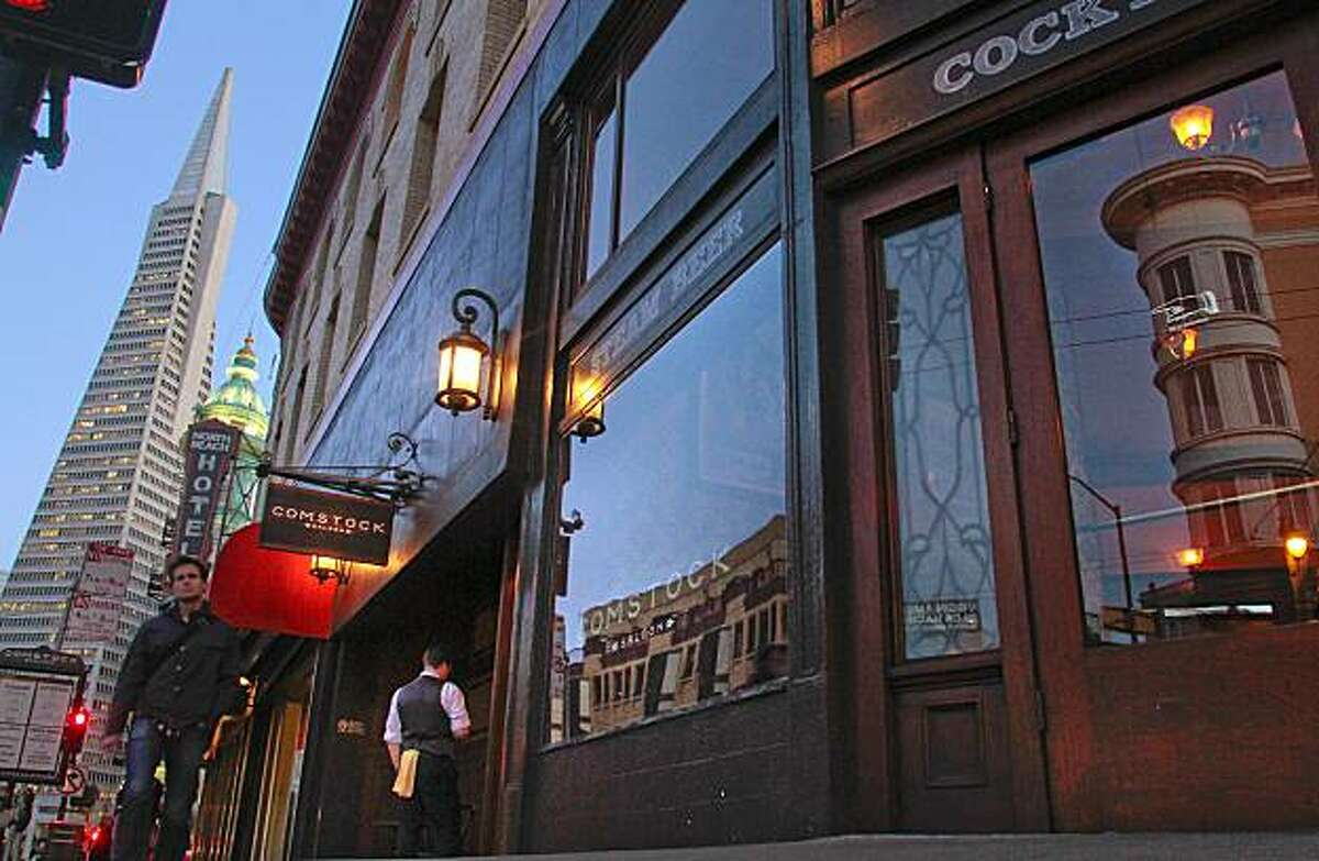 The exterior of the Comstock Saloon in San Francisco, Calif., is seen on Wednesday February 16th, 2011.