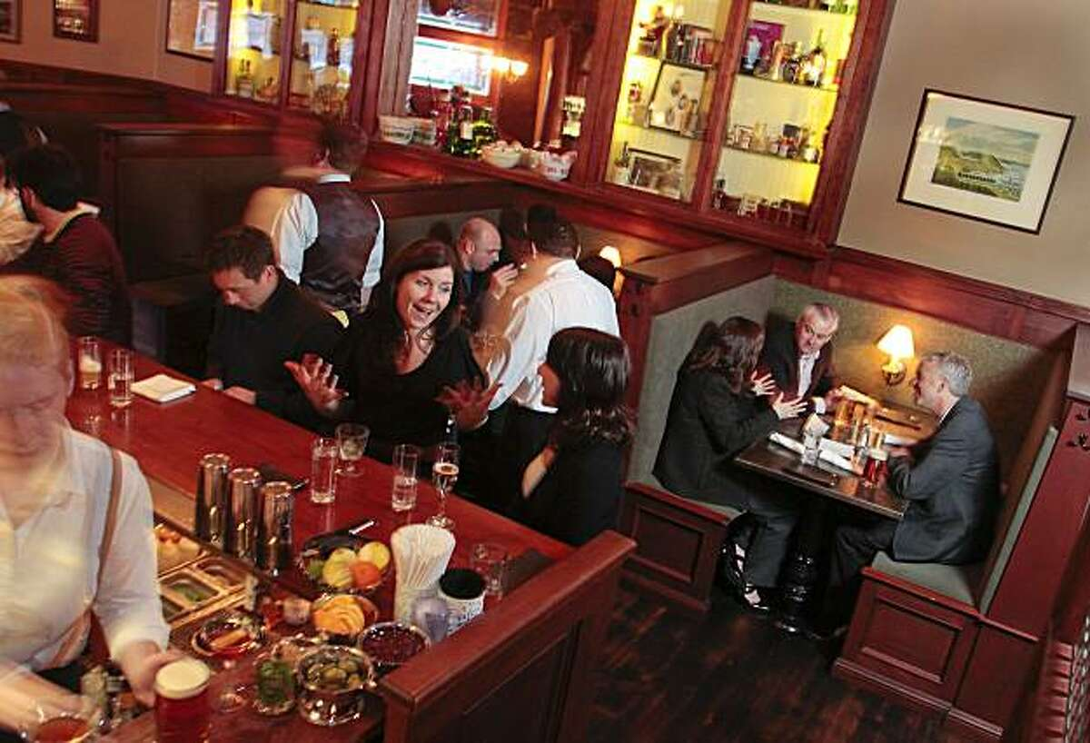 Happy hour at the Comstock Saloon in San Francisco, Calif., is seen on Wednesday February 16th, 2011.
