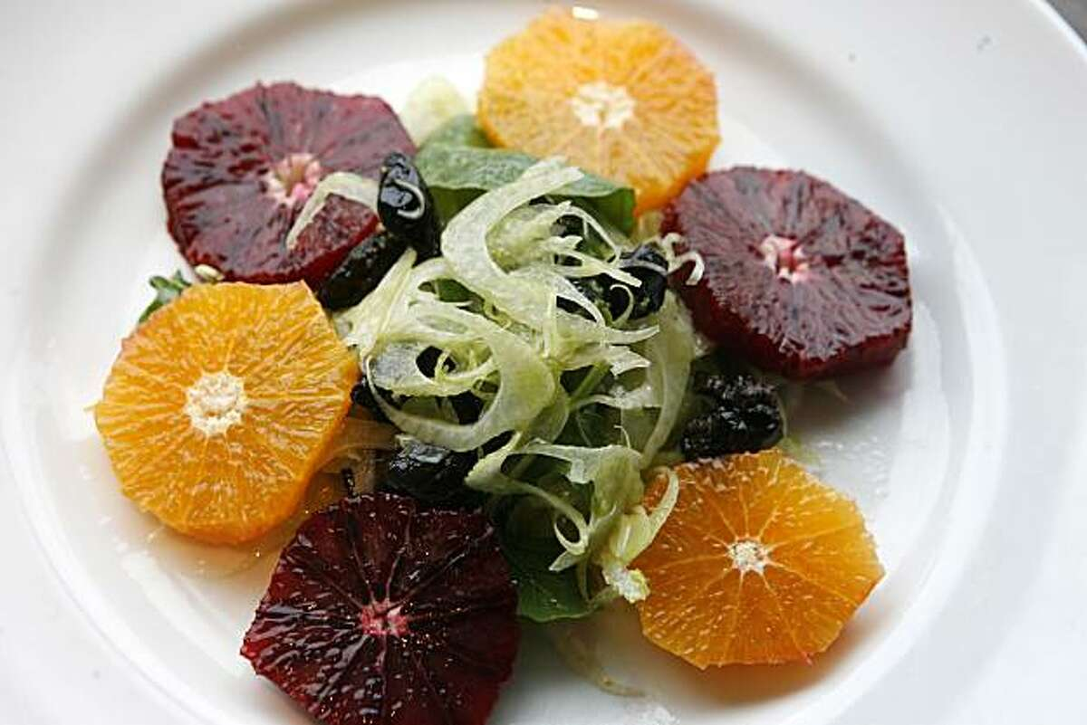 The Finoccio, arancia e olive is fennel salad with oranges and olives. Enoteca Molinari, a restaurant in Rockridge, Oakland, opened almost two months ago.