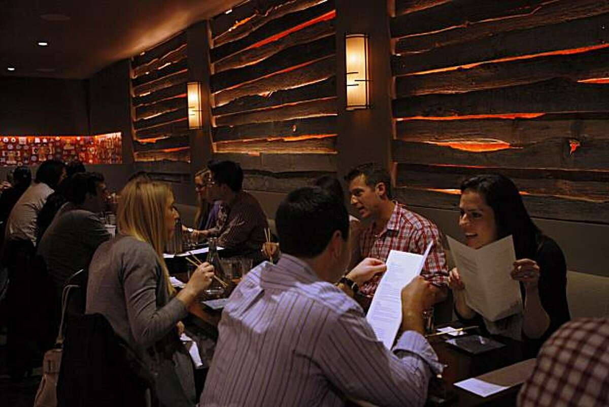 The dinner crowd at Chotto, a new Japanese restaurant, in San Francisco, Calif., on Friday, February 4, 2011.