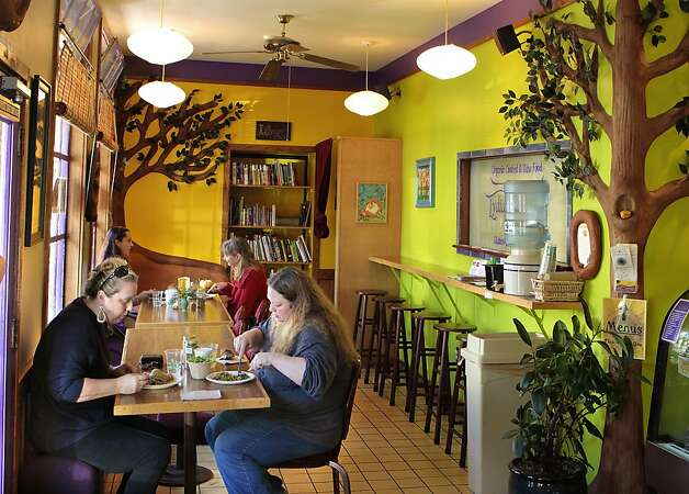 Diners enjoys lunch at Lydia's Kitchen in Fairfax, Calif.,  on Friday, January 21,  2011. Photo: John Storey, Special To The Chronicle