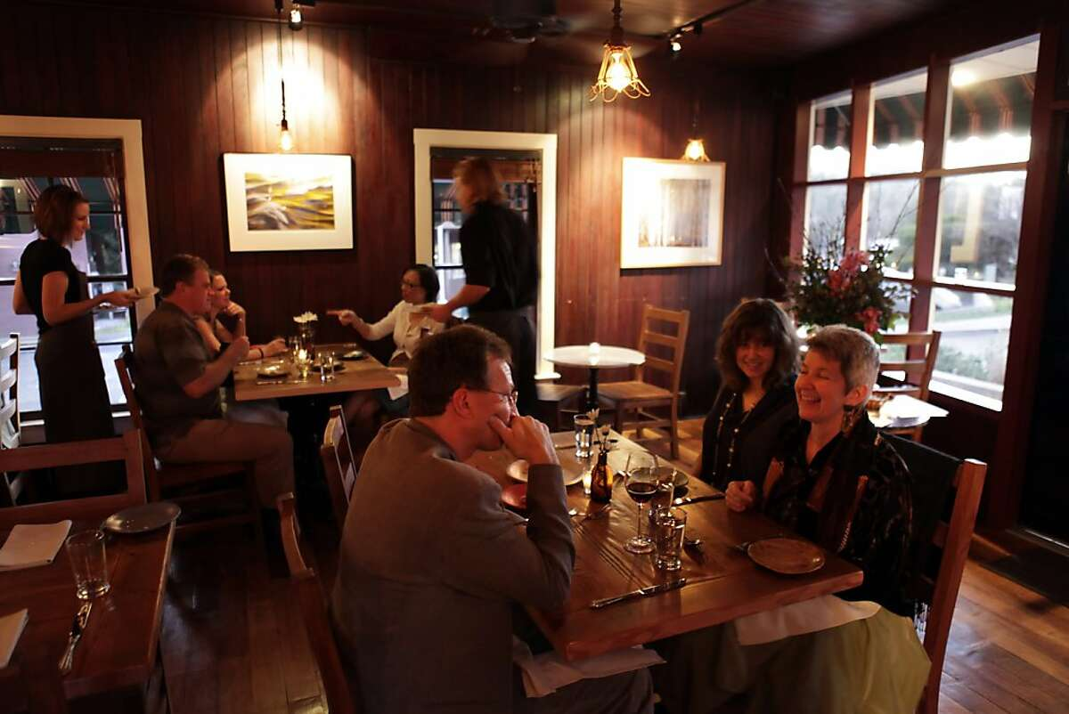 The dining room of Station 1 restaurant. Review of Station 1 restaurant in Woodside, Calif., on Tuesday, February 1, 2011.