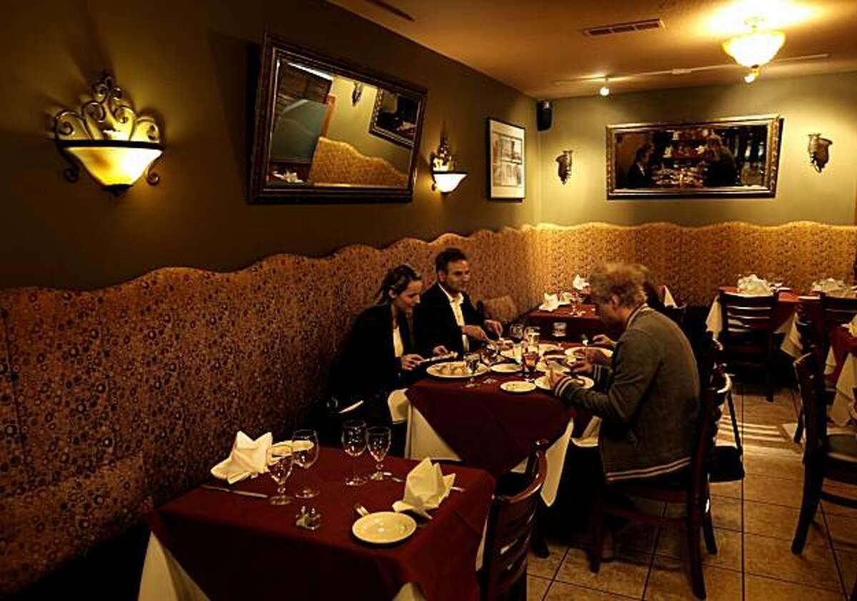 Dinner is served at Bona restaurant in Menlo Park, Ca., on Tuesday Jan, 25, 2011.