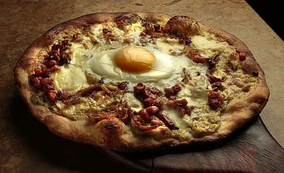 The Flatbread with egg, pancetta and leek at Vinantico restaurant in San Rafael, Calif., is seen on Friday. January 7, 2011. Photo: John Storey, Special To The Chronicle
