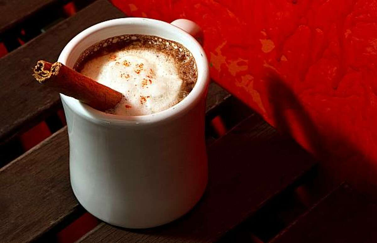 The Mexican hot chocolate at Flacos restaurant in Berkeley Calif., is seen on Saturday, January 8, 2011.