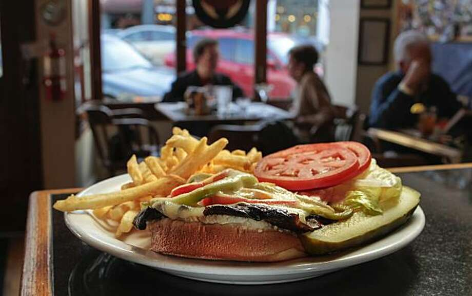 The Portobello Burger at the Third Avenue Sports Bar & Grill in San Mateo, Calif.,  is seen on Thursday, December 30,  2010. Photo: John Storey, Special To The Chronicle