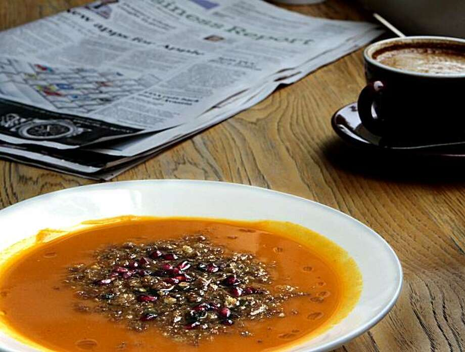 The Kabocha Squash soup at the Blue Bottle Cafe  in San Francisco, Calif., is seen on Friday, December 17,  2010. Photo: John Storey, Special To The Chronicle
