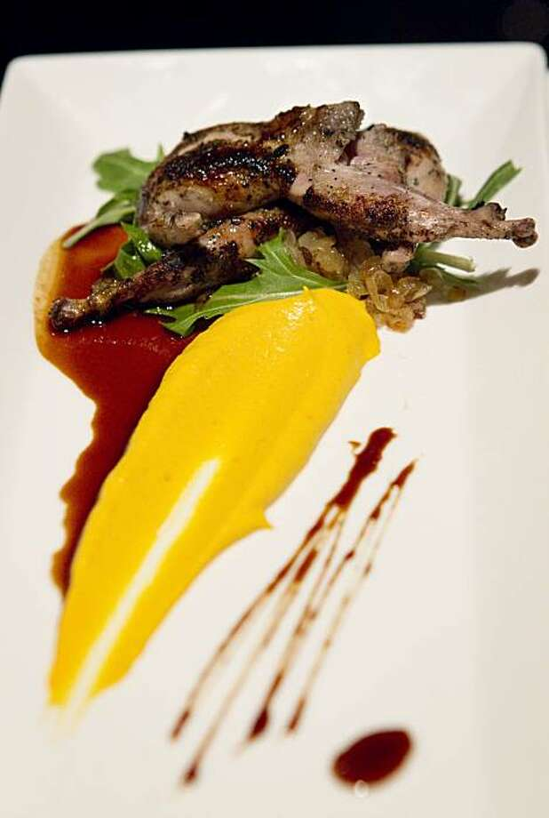 The grilled quail appetizer is seen at 25 Lusk in San Francisco, Calif., on Monday, December 13, 2010. Photo: Laura Morton, Special To The Chronicle