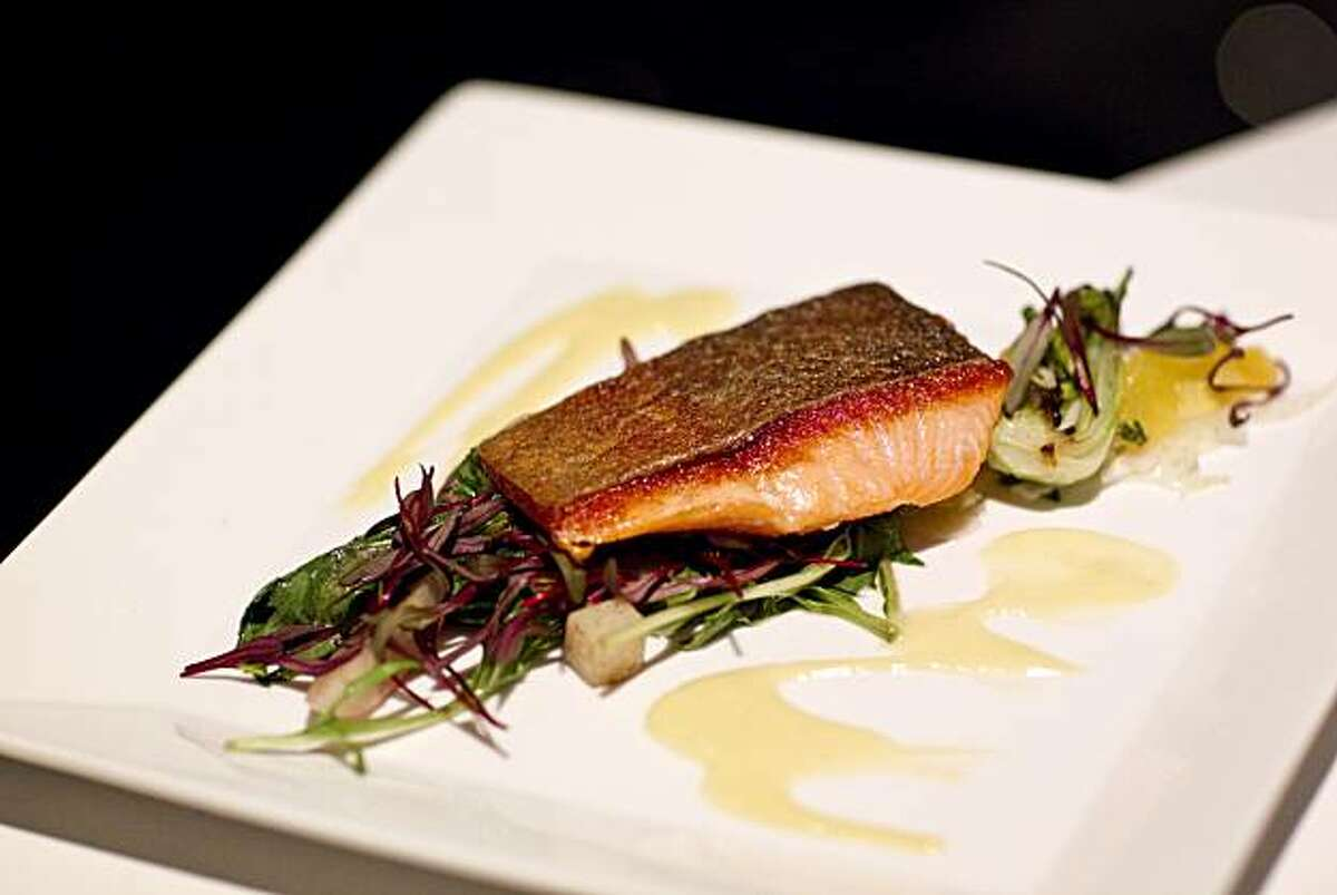 A dish of char with fennel and turnips is seen at 25 Lusk in San Francisco, Calif., on Monday, December 13, 2010.