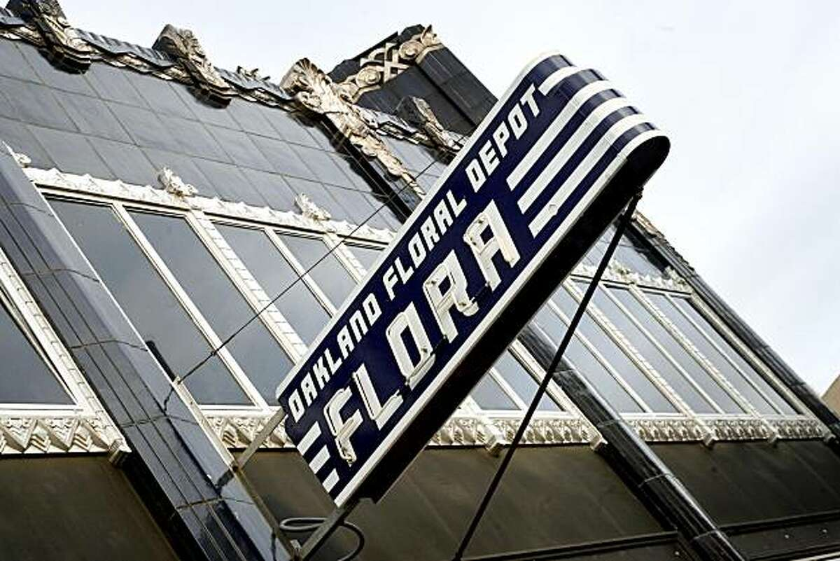 The exterior, showing the beautiful Art Deco building, at Flora, in Oakland, Calif. on Wednesday May 14, 2008. Katy Raddatz / The San Francisco Chronicle