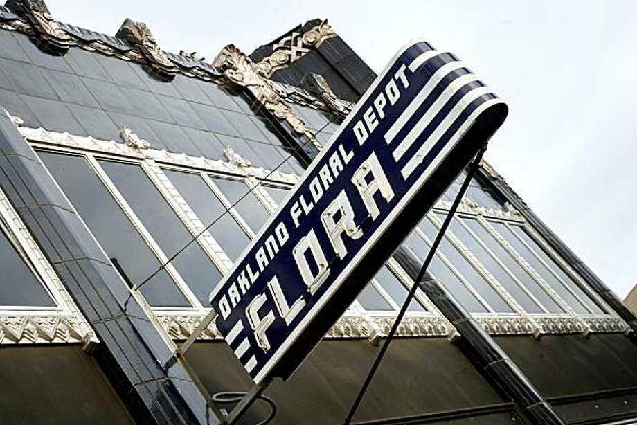The exterior, showing the beautiful Art Deco building, at Flora, in Oakland, Calif.  on Wednesday May 14, 2008. Katy Raddatz / The San Francisco Chronicle Photo: Katy Raddatz, SFC