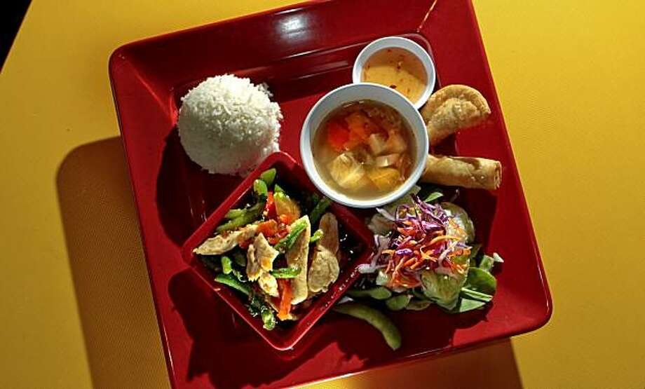 The Chicken with basil and chili sauce at Thaiger Thai Kitchen in San Mateo, Calif., is seen on Saturday, Nov. 27, 2010. Photo: John Storey, Special To The Chronicle
