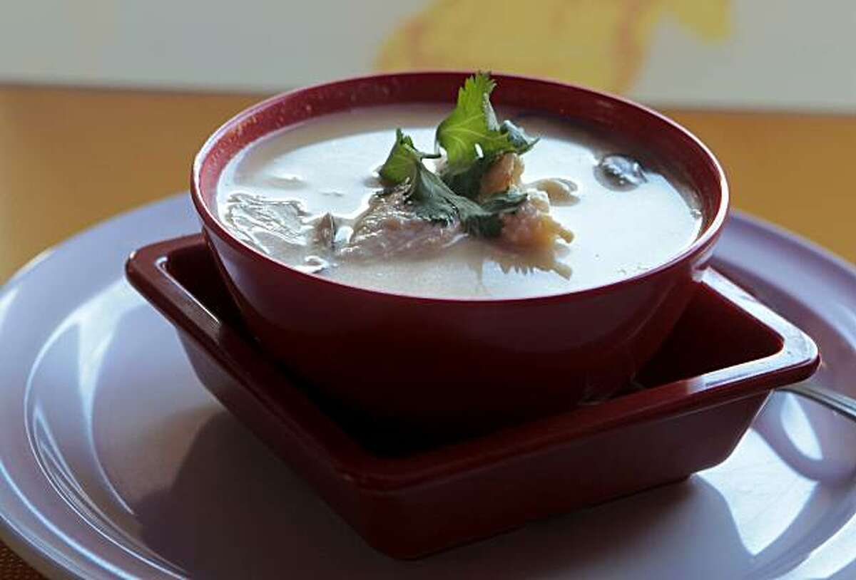 The Coconut soup with chicken at Thaiger Thai Kitchen in San Mateo, Calif., is seen on Saturday, Nov. 27, 2010.