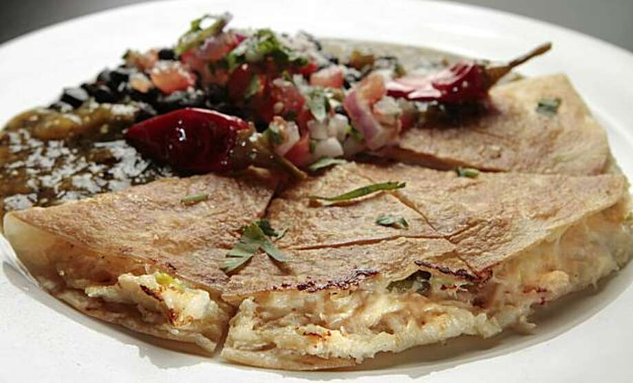 The Dungeness Crab quesadilla at Bistro Sabor in Napa, Calif., is seen on Saturday, Dec. 4, 2010. Photo: John Storey, Special To The Chronicle