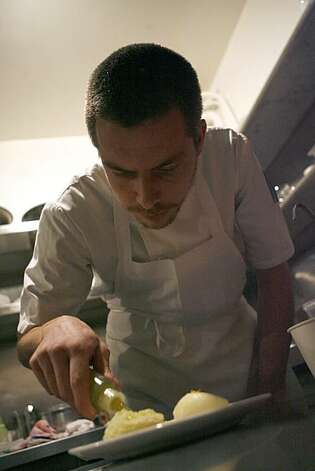 Ian Muntzert is the chef de cuisine of Commonwealth, a Progressive American restaurant in the Mission District under the direction of executive chef Jason Fox in San Francisco, Calif. on Saturday, Nov. 20, 2010. Photo: Kirsten Aguilar, The Chronicle