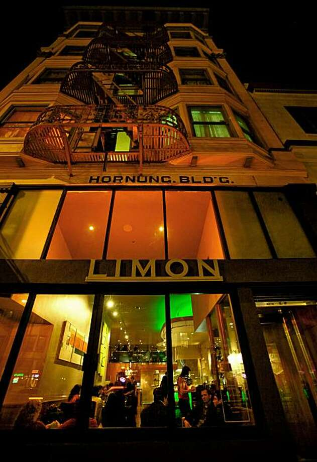 "Mission District restaurant ""Limon"" at 524 Valencia Street in San Francisco, Ca., which has reopened after a fire last year closed the business.  A visit to the restaurant  on Tuesday October 20, 2009. Photo: Michael Macor, The Chronicle"