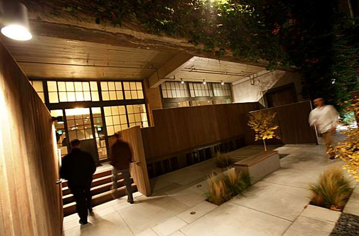 The entrance to Benu on Hawthorne between Howard and Folsom Streets. Benu is a new restaurant by former French Laundry Chef du Cuisine Corey Lee in San Francisco, Calif.