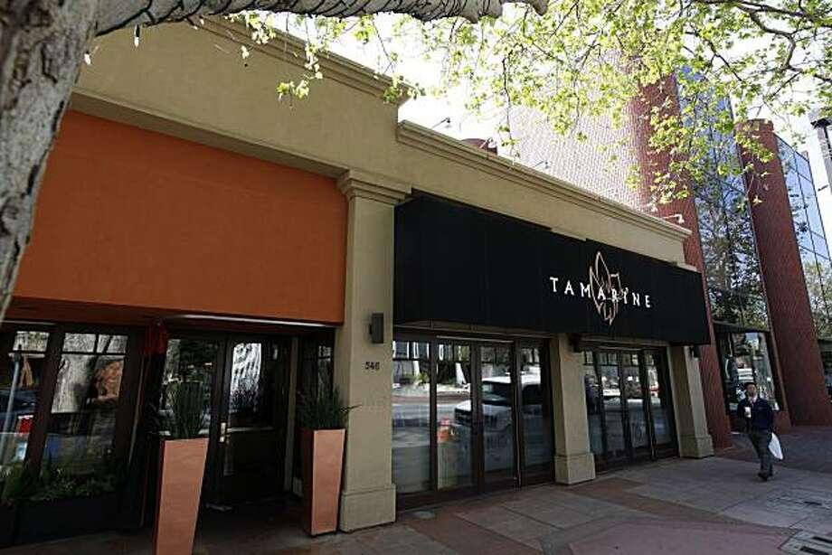 "Along University Ave,  ""Tamarine"" restaurant in Palo Alto, Calif. on Wednesday April 29, 2009. Photo: Michael Macor, The Chronicle"