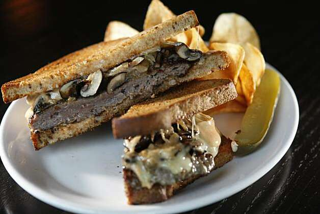 A Skillet patty melt is one of the dishes on the menu at Hog & Rocks October 19, 2010, Oakland, Calif.  Hog & Rocks is the first ham and oyster bar in San Francisco. Photo: Adm Golub, The Chronicle