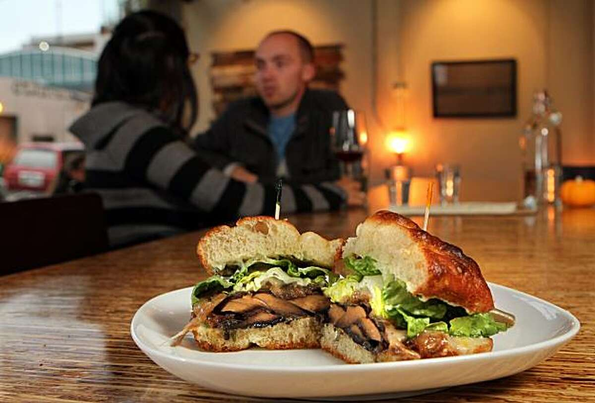 The Portobello sandwich at Encuentro Restaurant in Oakland, Calif., is seen on Thursday, Oct. 21, 2010.