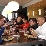 Diners enjoy lunch at Jack's Prime restaurant in San Mateo, Calif., is seen on Friday, Oct. 29, 2010.