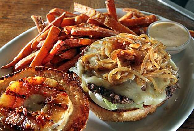 "The ""Great Hawaiian"" burger at Jack's Prime restaurant in San Mateo, Calif., is seen on Friday, Oct. 29, 2010. Photo: John Storey, Special To The Chronicle"
