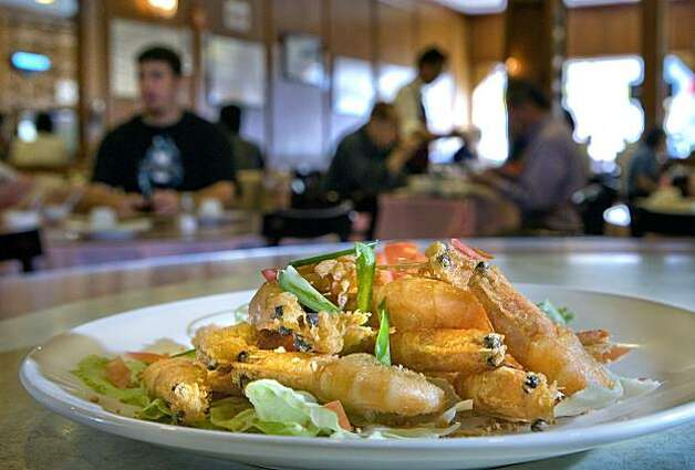 Salt and Pepper Prawns at China First restaurant in San Francisco, Calif., is seen on Wed. October 13, 2010.  Ran on: 10-28-2010 Salt and pepper prawns, top, are among the inexpensive dishes on the huge menu at China First. The restaurant in San Francisco's Richmond District emphasizes fresh seafood. Photo: John Storey, Special To The Chronicle